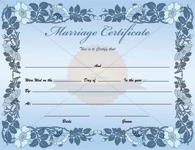 Fake Marriage Certificate Template Best Of Fake Blank Marriage Certificate Template