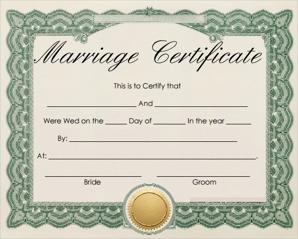 Fake Marriage Certificate Template Best Of Free 18 Marriage Certificate Templates In Word