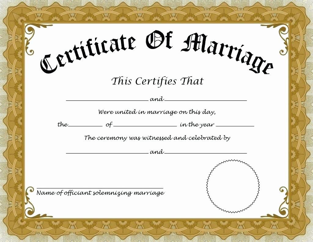 Fake Marriage Certificate Template Elegant How to Apply for Marriage Certificate In India – Details