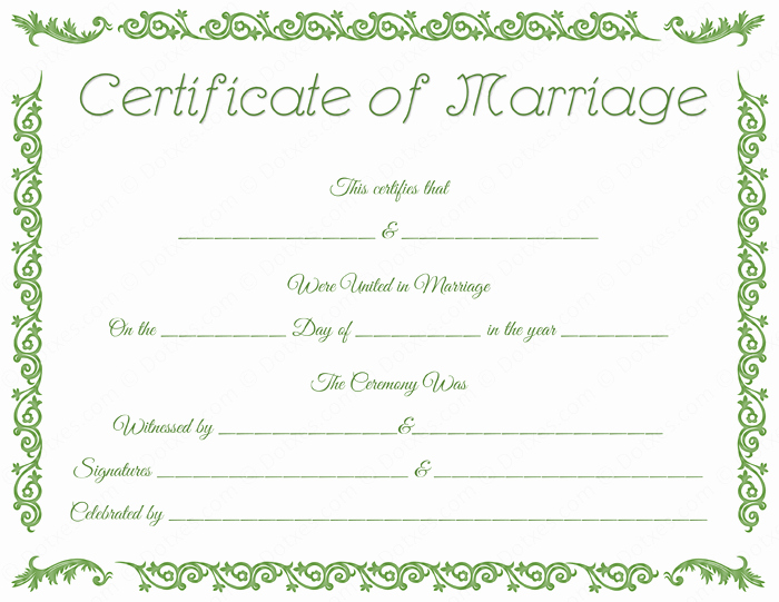 Fake Marriage Certificate Template Fresh Printable Fake Marriage Certificate Template