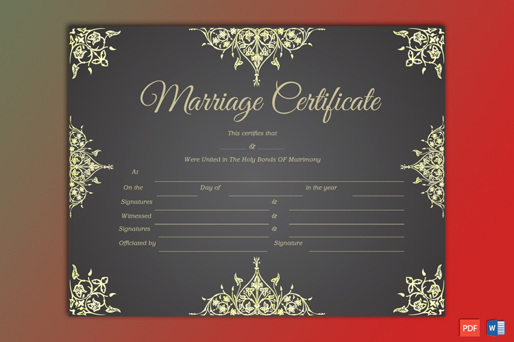 Fake Marriage Certificate Template Luxury Blank Marriage Certificate Template Word Pdf Gct