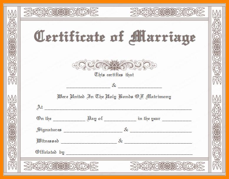 Fake Marriage Certificate Template Unique 6 Fake Marriage Certificate