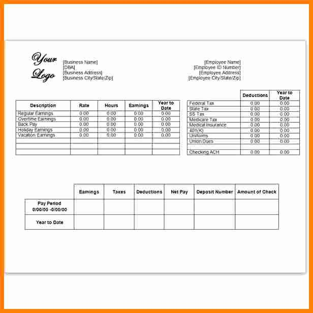 Fake Medical Record Generator New 6 Free Excel Pay Stub Template
