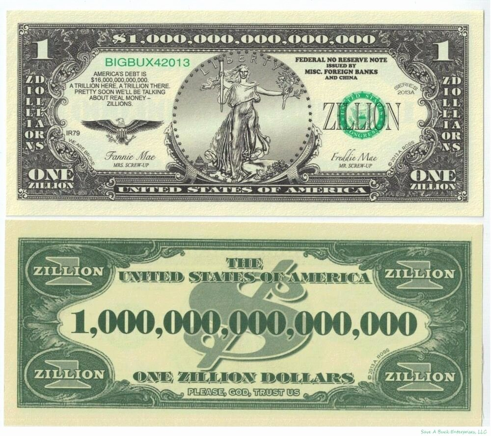 Fake Money Gram Numbers Elegant 100 Zillion Dollar Novelty Money Bills Funny Gag Joke