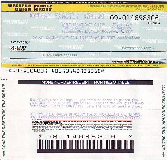 Fake Moneygram Receipt Best Of Picture Western Union Money order