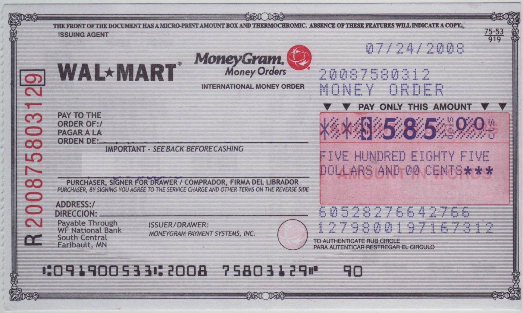 Fake Moneygram Receipt Unique Blank Check Sample