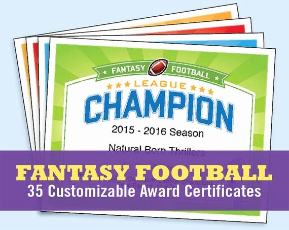 Fantasy Football Certificate Template Best Of Fantasy Football Certificates Fantasy Football Trophy