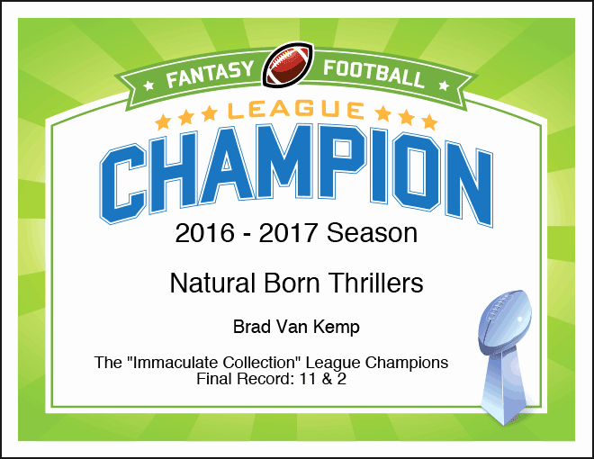 Fantasy Football Certificate Template Inspirational Add Fun to Your Fantasy Football League