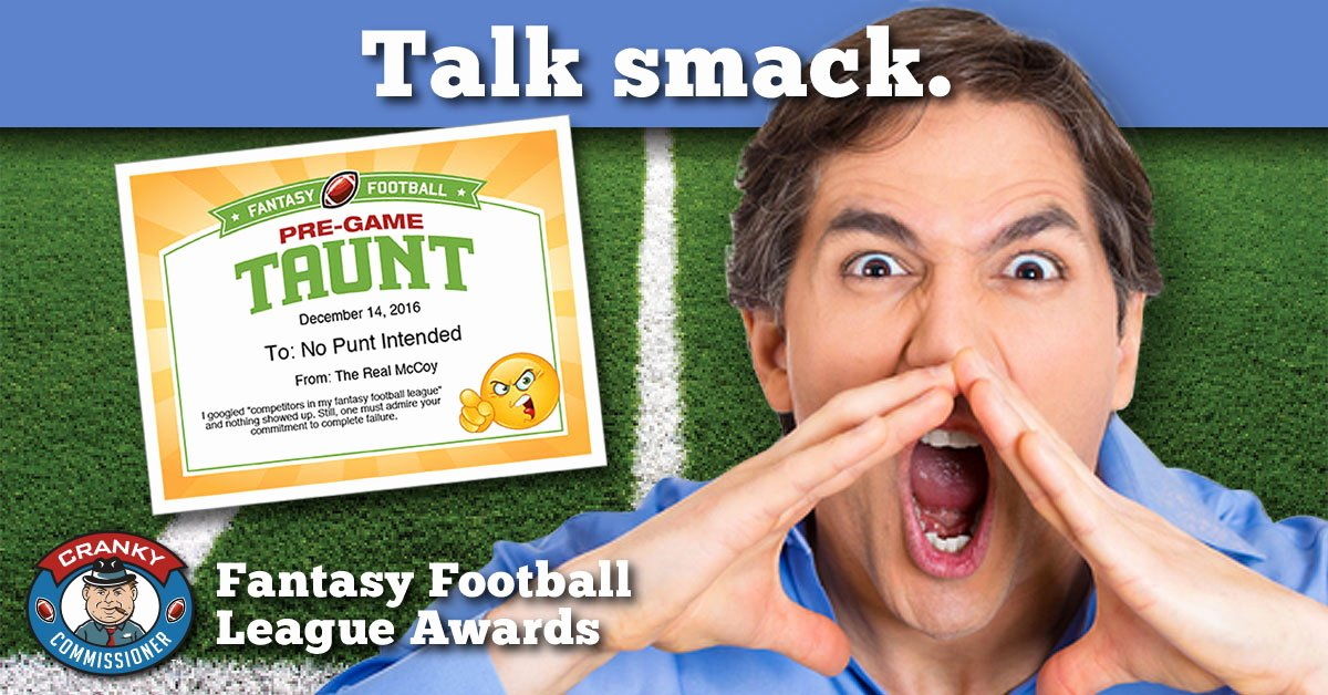 Fantasy Football Certificate Template New Fantasy Football Talk Smack Award Image Free Award