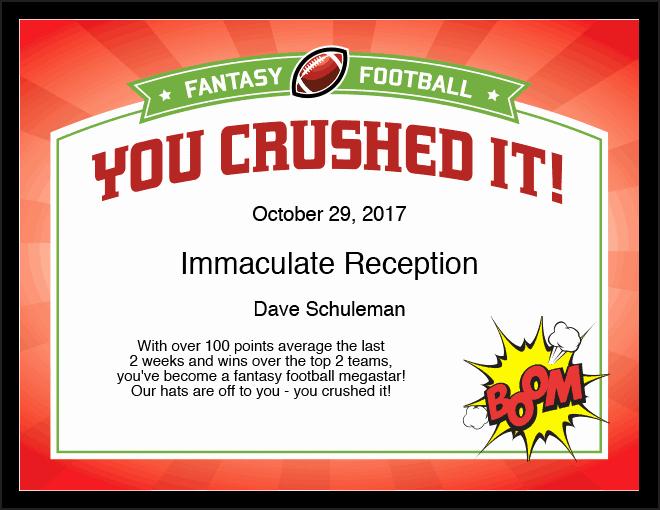 Fantasy Football Certificate Template Unique Add Fun to Your Fantasy Football League