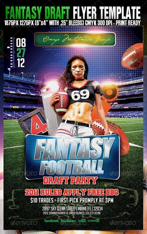 Fantasy Football Draft Template Awesome top 10 American Football Psd Flyer Templates