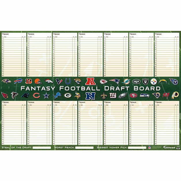 Fantasy Football Draft Template Best Of Shop Football Wall Decals & Gifts