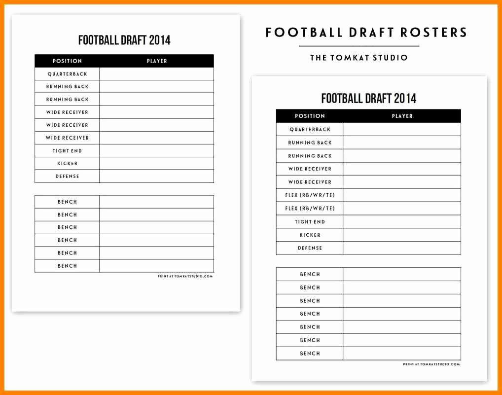 Fantasy Football Draft Template New Fantasy Football Draft Spreadsheet Template