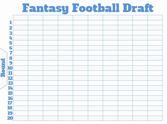 Fantasy Football Spreadsheet Template Elegant Fantasy Football Draft Board Creator Free Printable
