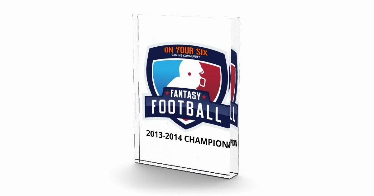 Fantasy Football Winner Certificate Awesome Fantasy Football Trophy Award