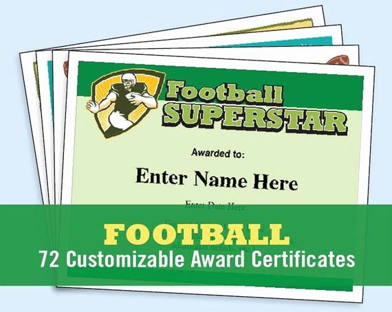 Fantasy Football Winner Certificate Beautiful Football Certificates Templates Youth Football Kid