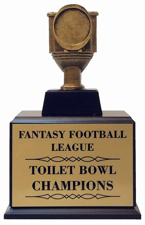 Fantasy Football Winner Certificate Elegant toilet Trophy Svardbrogard