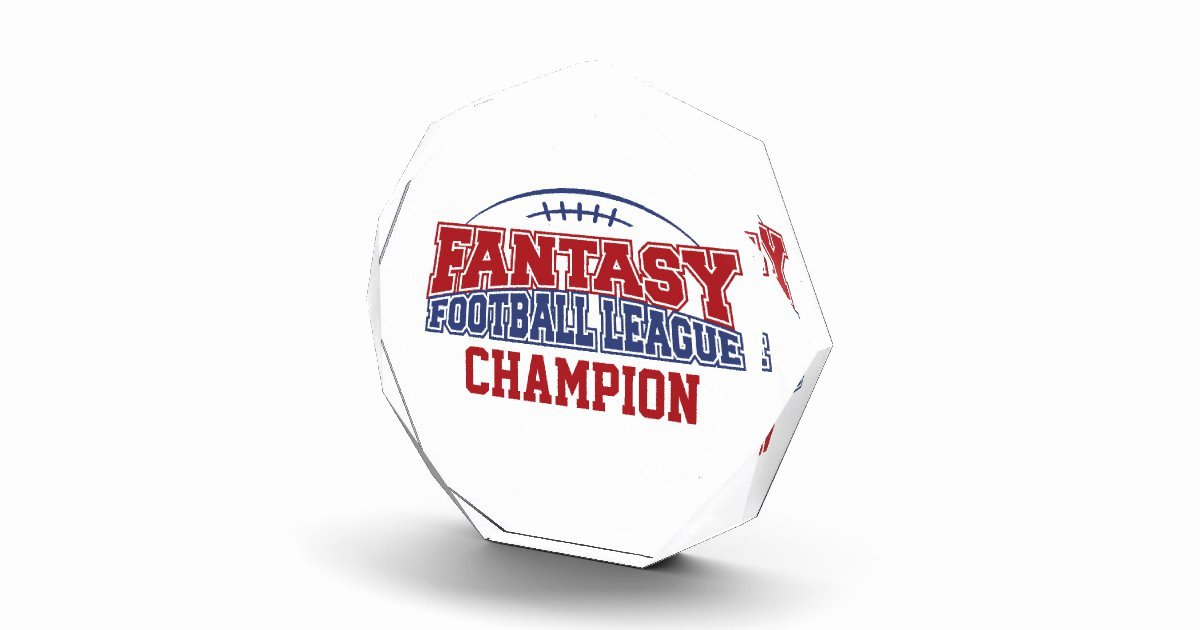 Fantasy Football Winner Certificate Luxury Fantasy Football League Champion Acrylic Award