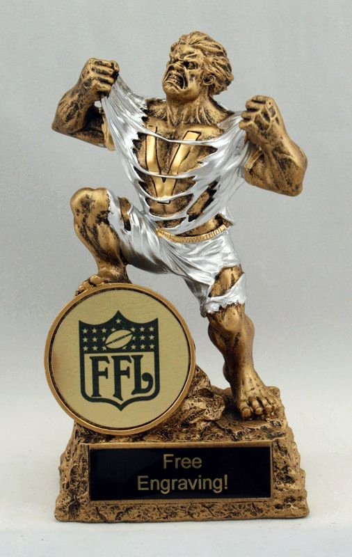 Fantasy Football Winner Certificate Unique Victory Fantasy Football Trophy