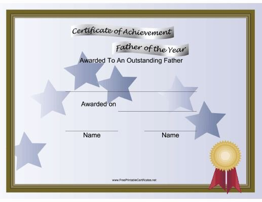 Father Of the Year Certificates Elegant A Printable Certificate for the Father Of the Year to Be