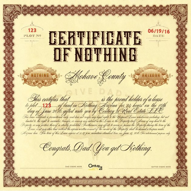 Father Of the Year Certificates Lovely Give Your Dad A Piece Of Nothing This Father S Day