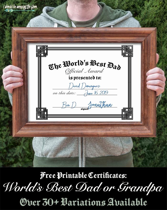 Father Of the Year Certificates Luxury 31 Free Printable Father S Day Certificates