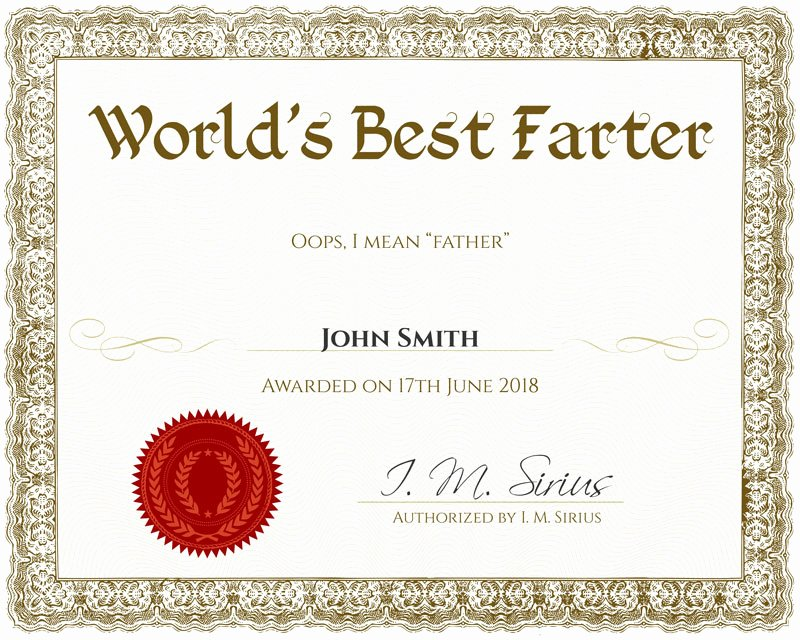 Father Of the Year Certificates Unique Homemade Fathers Day Gifts & Crafts to Make