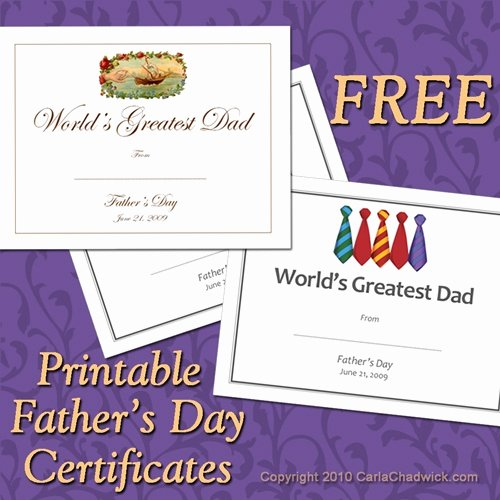 Father's Day Award Certificates Elegant Father S Day Gift Ideas Free Printable Gift Certificates