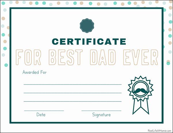 Father's Day Award Certificates Unique Father S Day Printable Set Questionnaire Certificate Award