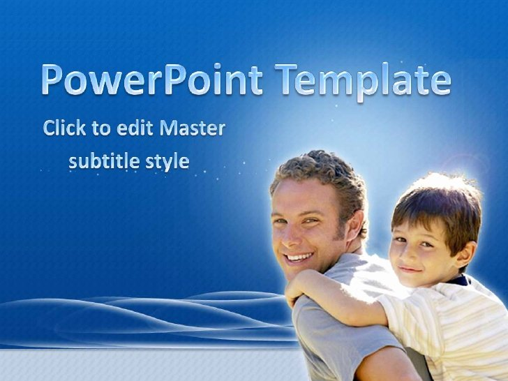 Father's Day Backgrounds Powerpoint Elegant Free Father's Day Powerpoint Template