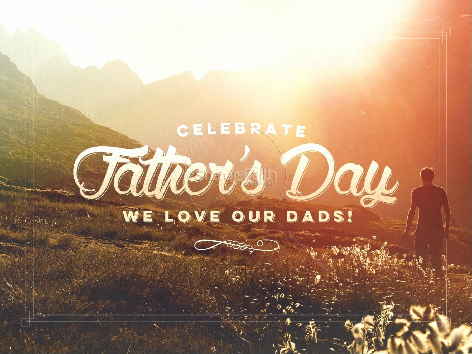 Father's Day Backgrounds Powerpoint Luxury Father S Day Nature Hike Father S Day Powerpoint