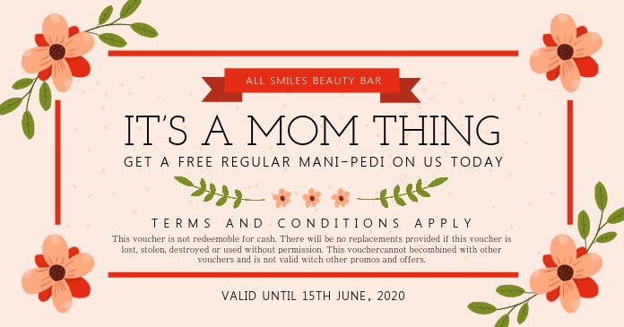 Father's Day Gift Certificate Template Elegant Copy Of Mother S Day Beauty Salon Gift Certificate