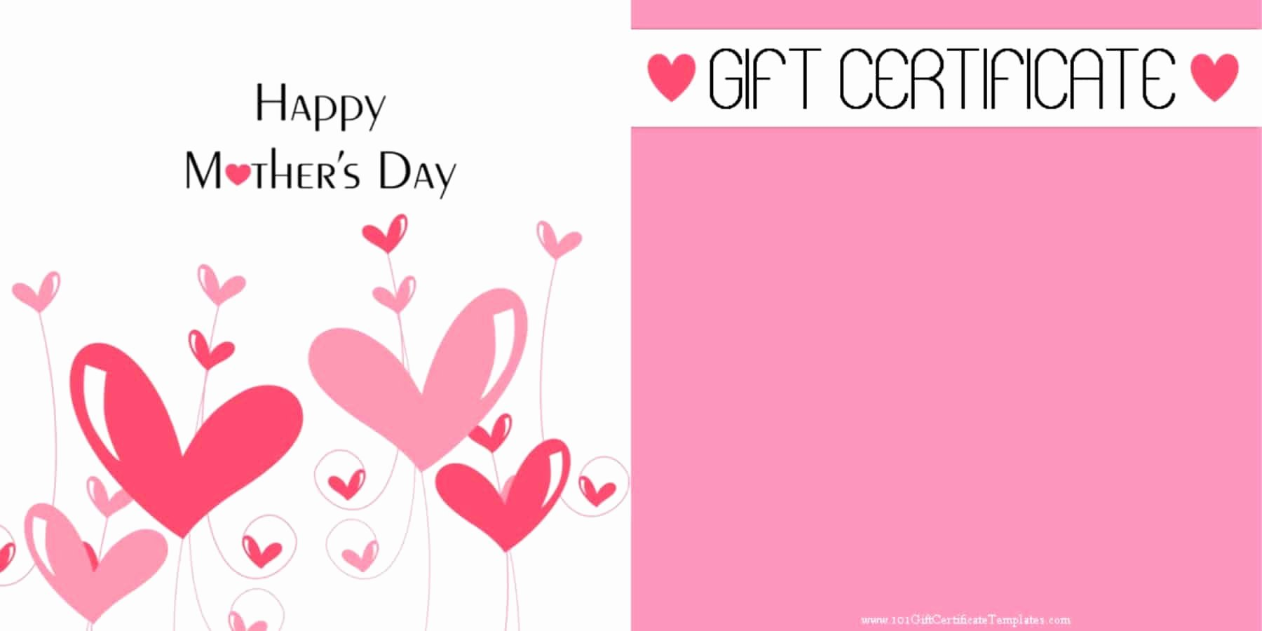 Father's Day Gift Certificate Template Fresh Mother S Day Gift Certificate Templates
