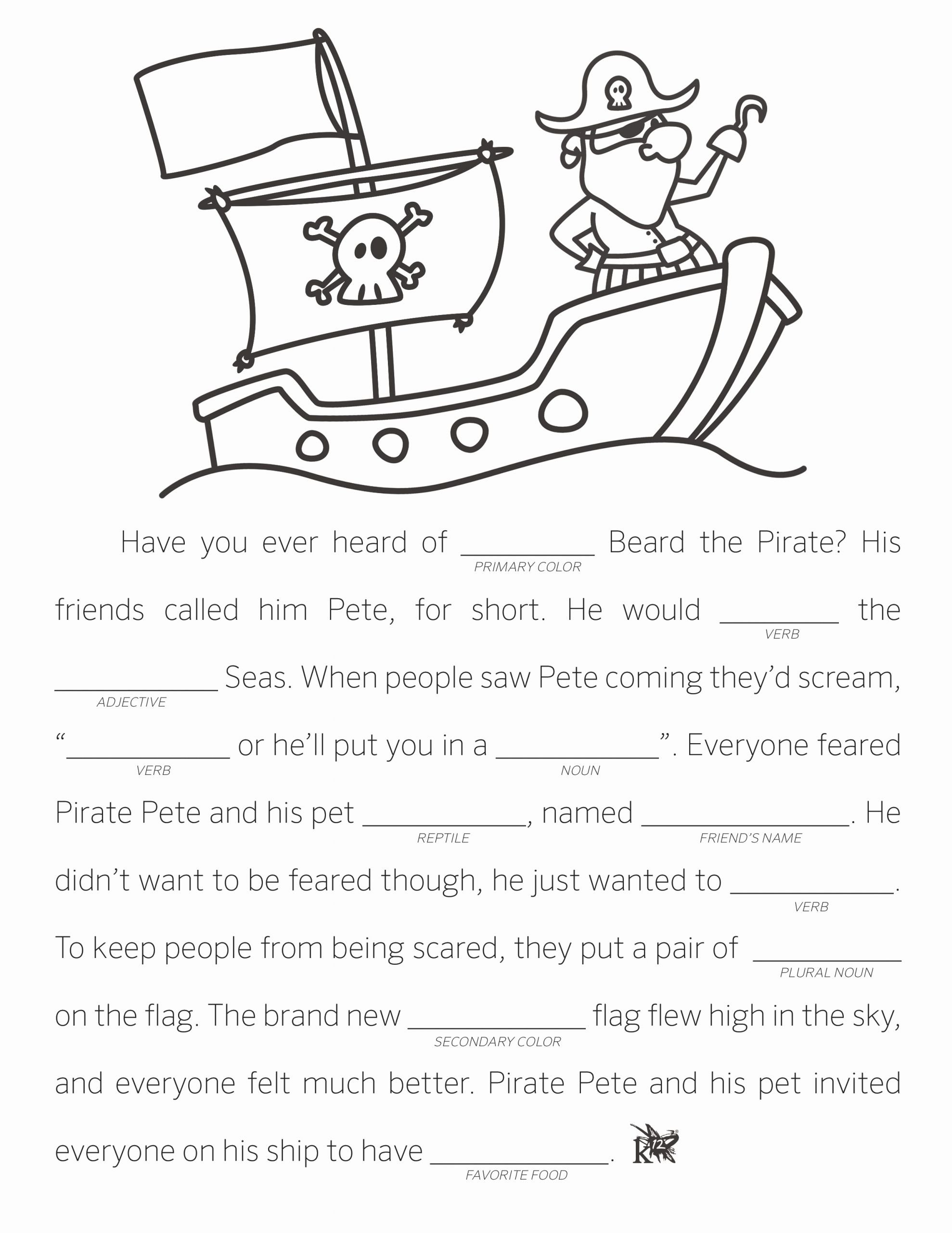 Fill In the Blank Printables Inspirational Make Your Own Fill In the Blank Stories