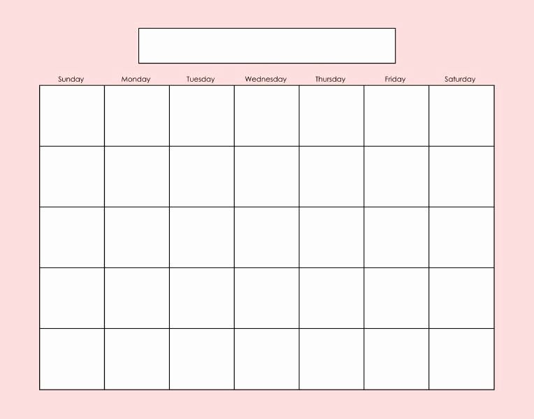 Fill In the Blank Printables Lovely Blank Calendar Page Fill as Needed Printables