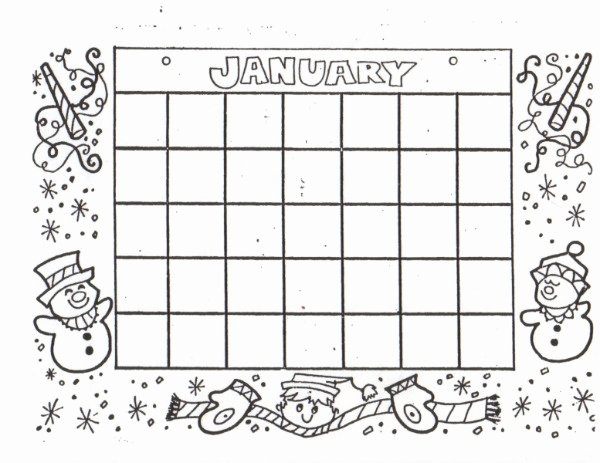 Fill In the Blank Printables Unique Kat S Almost Purrfect Home Free Blank Calendars to Color