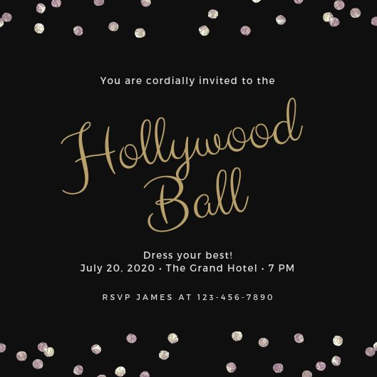 Film Festival Award Certificate Template Awesome Customize 42 Hollywood Invitation Templates Online Canva