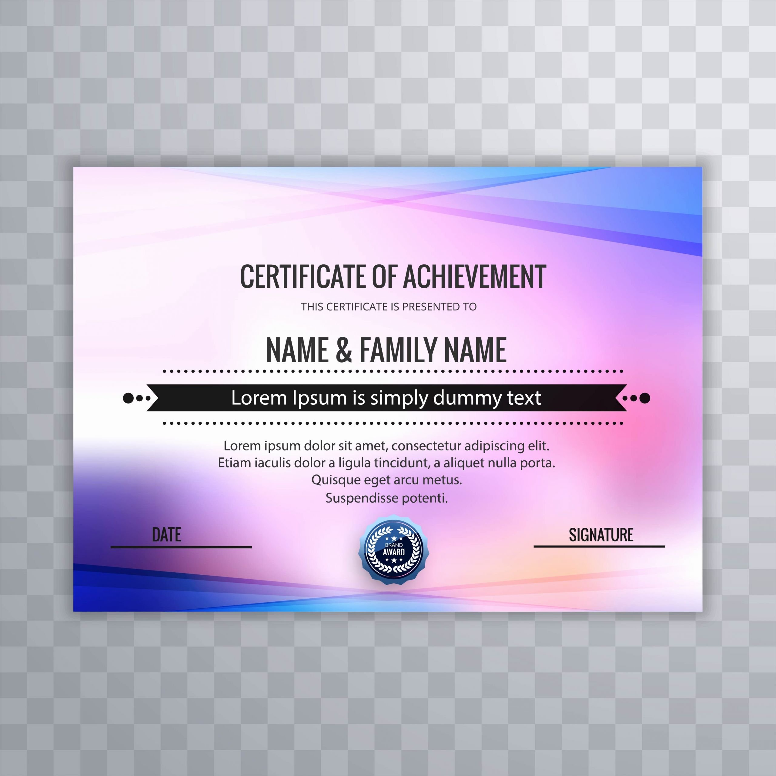 Film Festival Award Certificate Template Beautiful Certificate Of Appreciation Template with Colorful Design