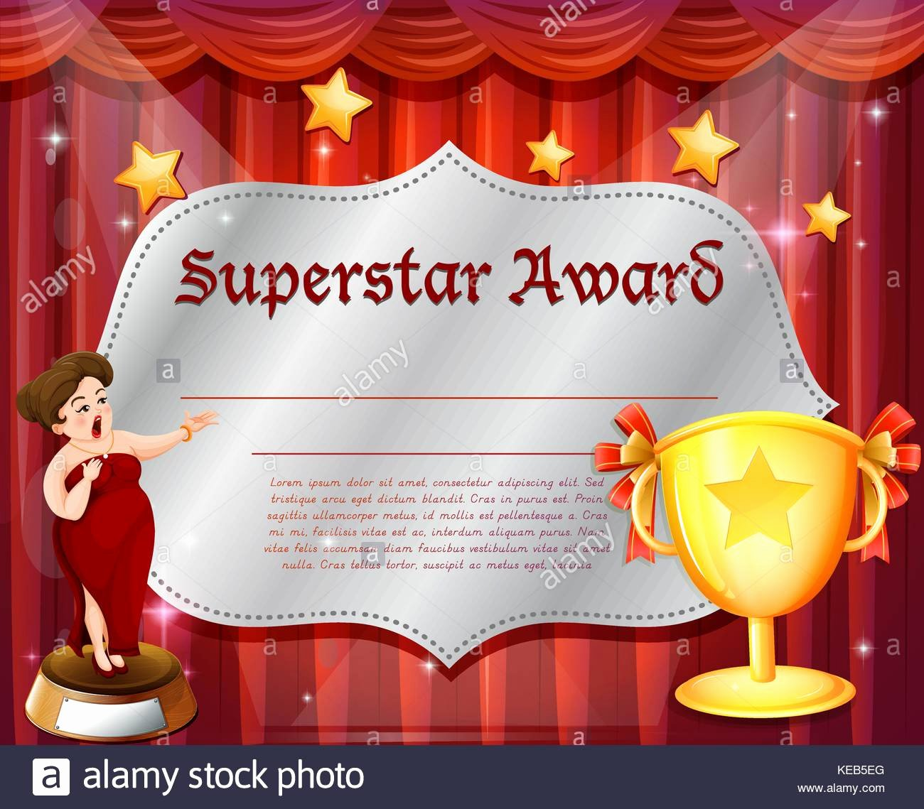 Film Festival Award Certificate Template Inspirational Award Curtain Stock S & Award Curtain Stock