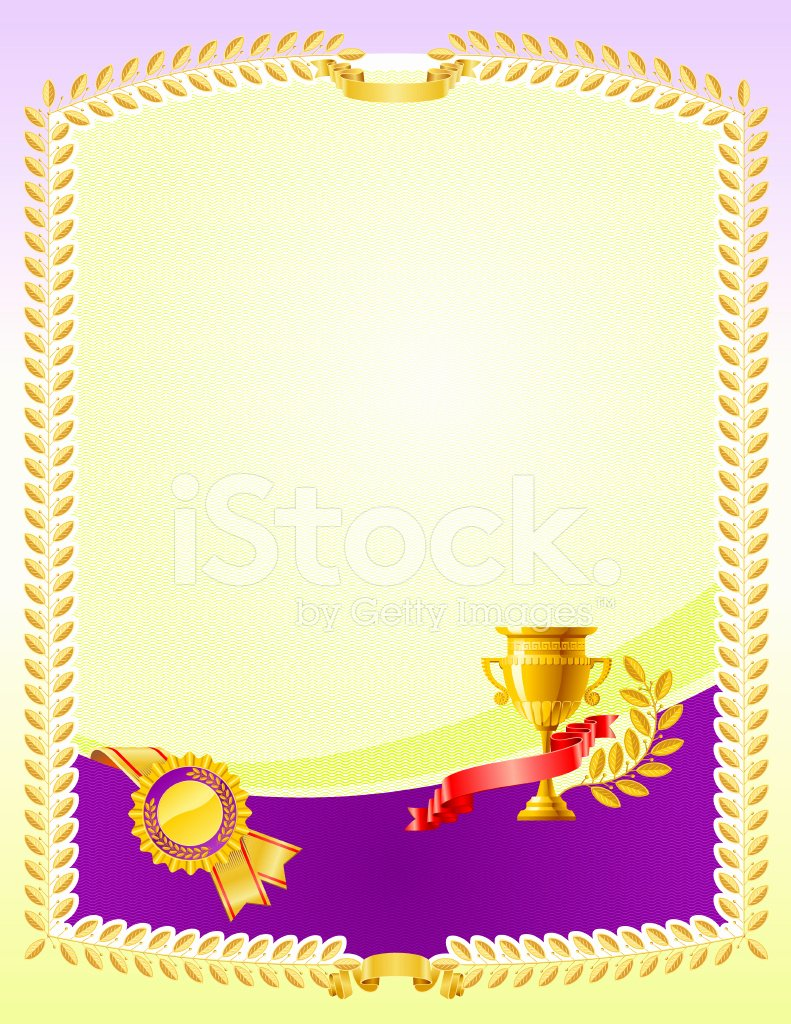 Film Festival Award Certificate Template Inspirational Certificate Award Stock Photos Free