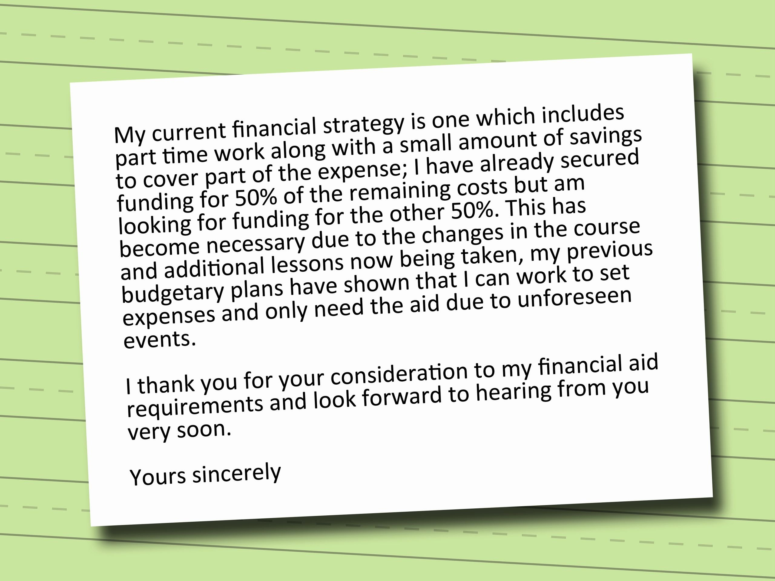 Financial Need Letter Fresh How to Write A Letter for Financial Aid 3 Easy Steps