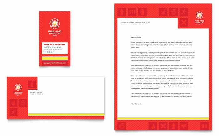 Fire Safety Certificate Template Beautiful Fire Safety Business Card & Letterhead Template Design