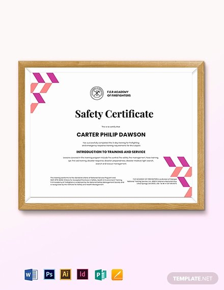 Fire Safety Certificate Template Luxury Free Graduation Certificate Template Download 518
