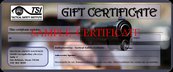 Firearms Training Certificate Template Awesome Gift Certificate Chl San Antonio