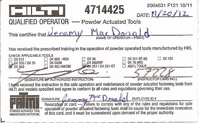 Firearms Training Certificate Template Best Of Certifications Portfolio Of Jeramy Macdonald