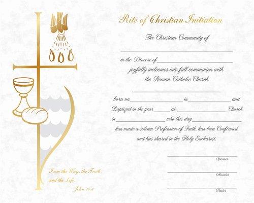 First Communion Certificate Template Beautiful Rcia Certificates 109 St Jude Shop Inc