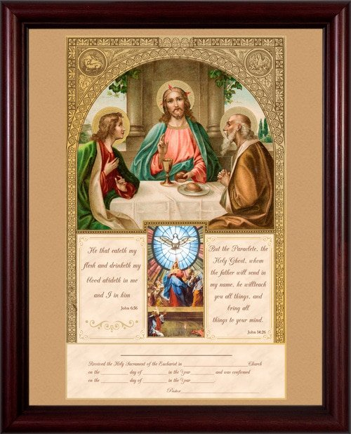First Communion Certificate Template Best Of Beautiful Traditional Catholic Sacramental Certificates