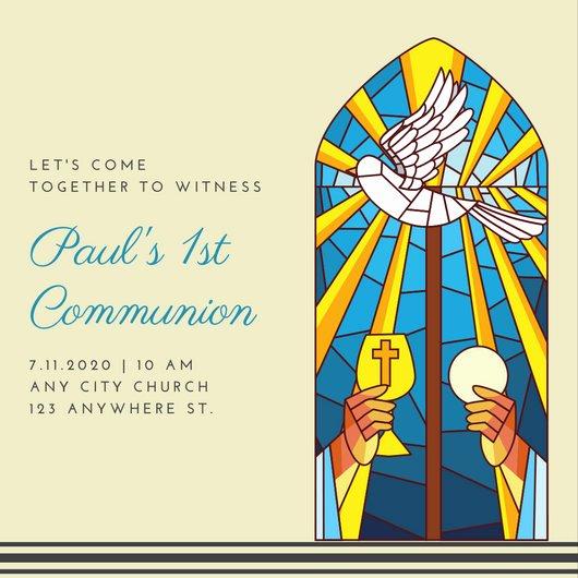 First Communion Certificate Template Elegant Customize 2 371 First Munion Invitation Templates