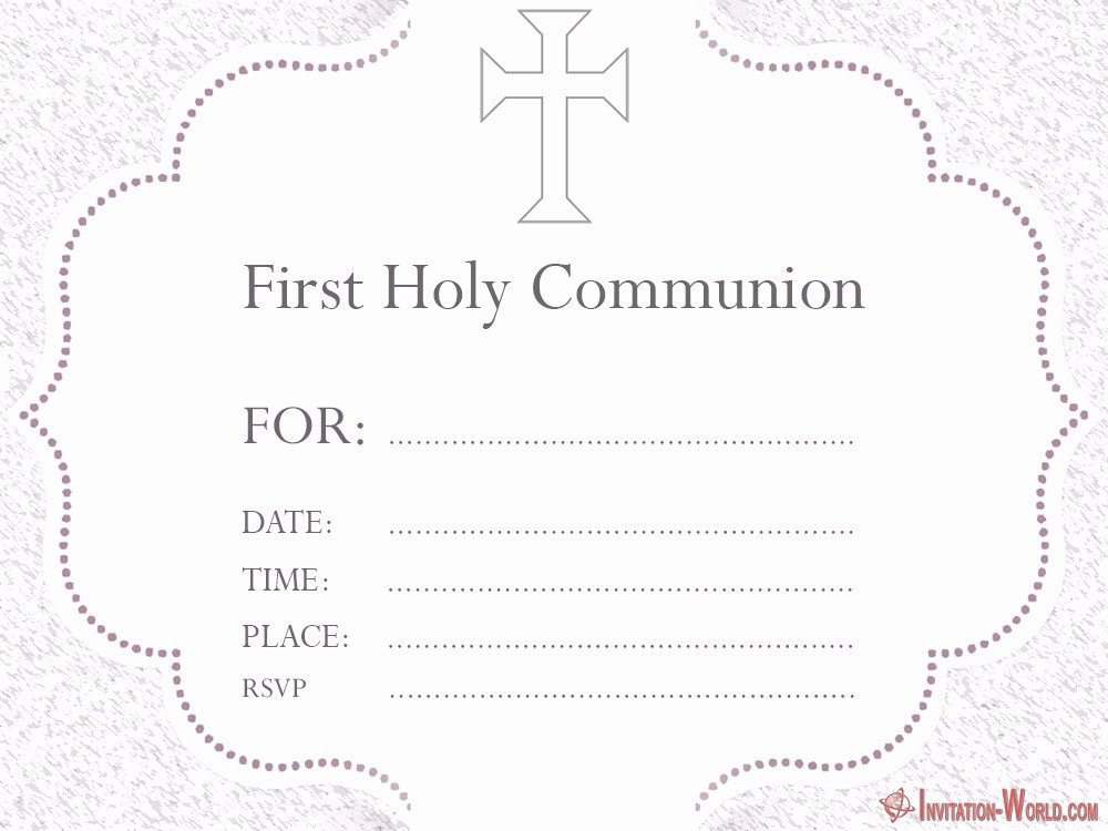 First Communion Certificate Template Luxury First Munion Invitation Cards