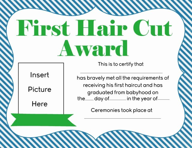 First Haircut Certificate Free Template Best Of First Haircut Certificate Free Download Printable